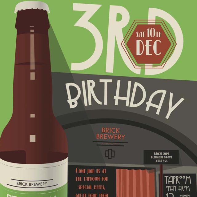 Brick Brewery Third Birthday Event Flyer Thumb