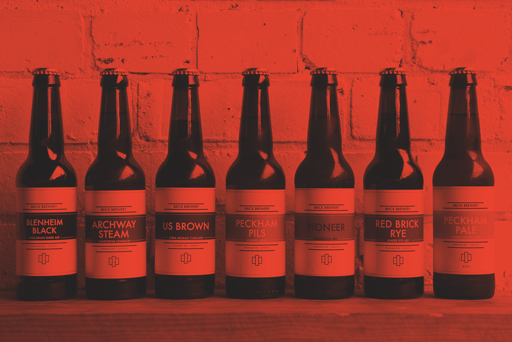 Brick Brewery's line up of their bottled beers