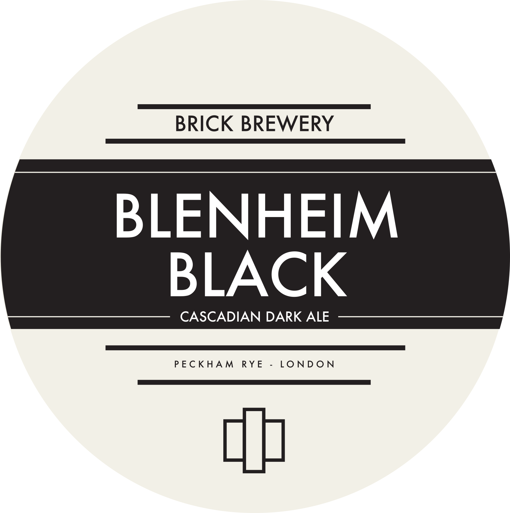 Brick Brewery's Blenheim Black Beer Logo