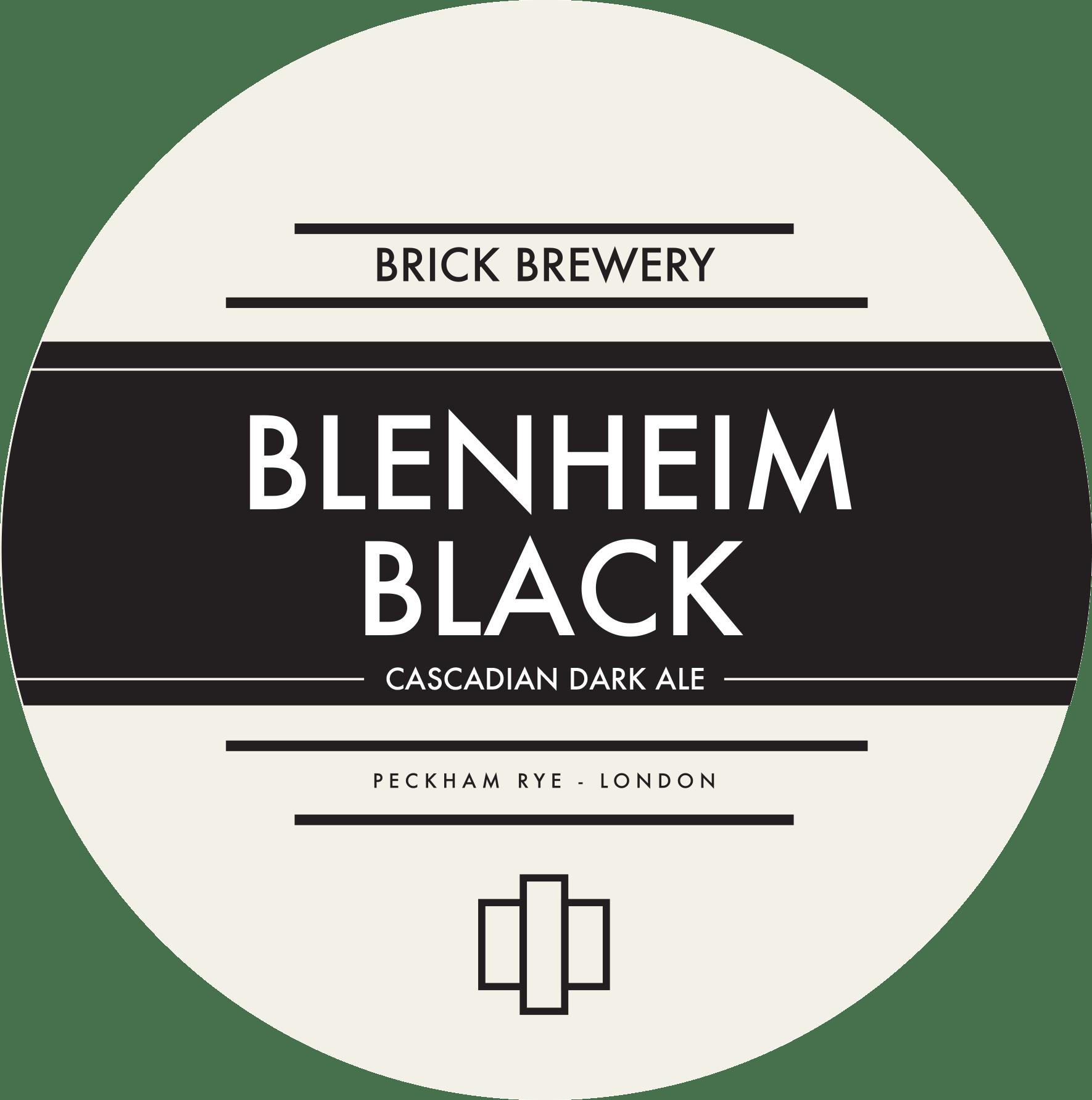 Brick Brewery's Blenheim Black Beer Logo