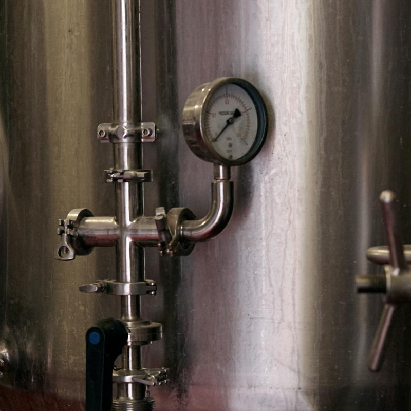 brewery equipment pressure value