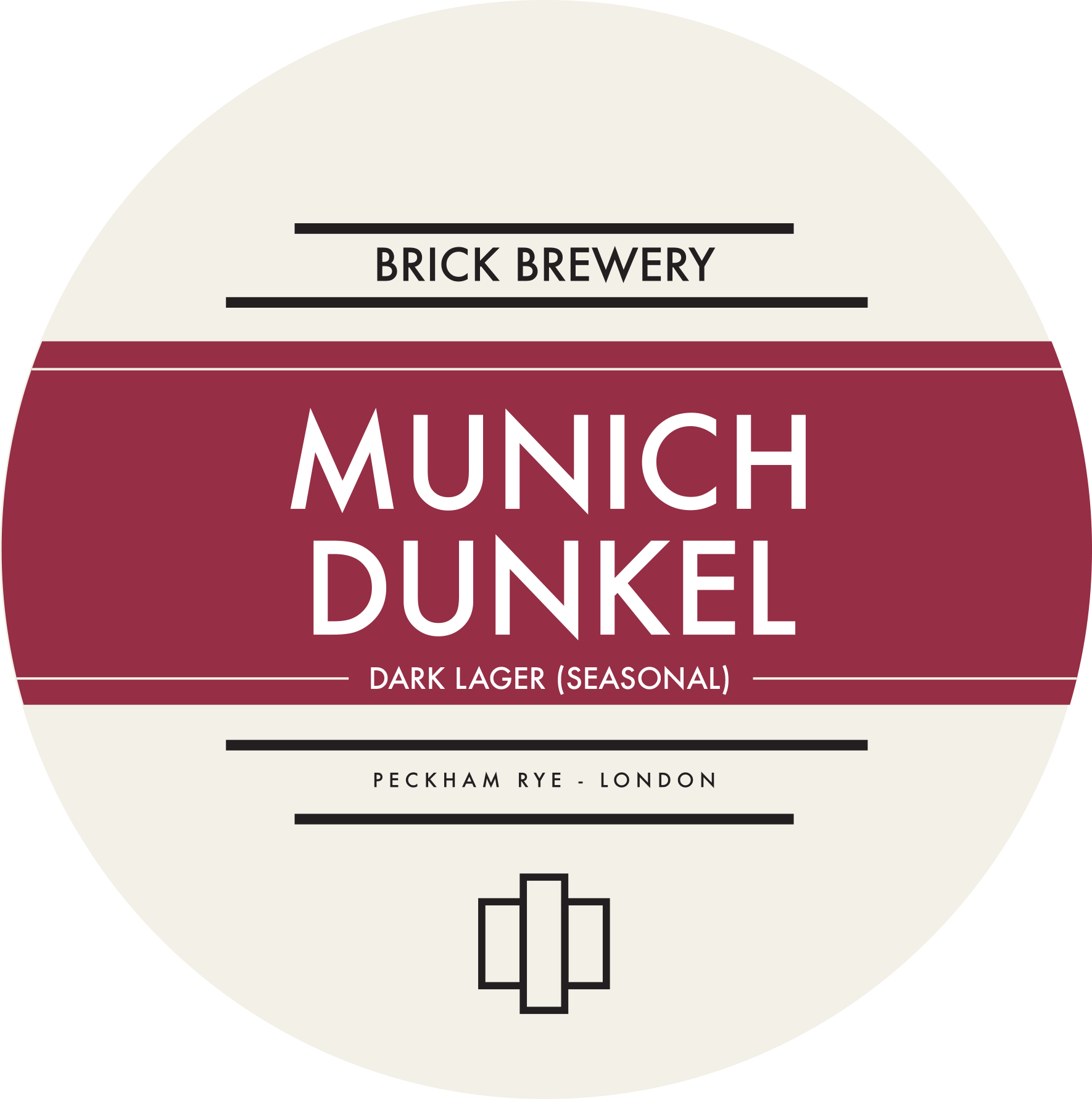 Brick Brewery's Munich Dunkel Beer Logo