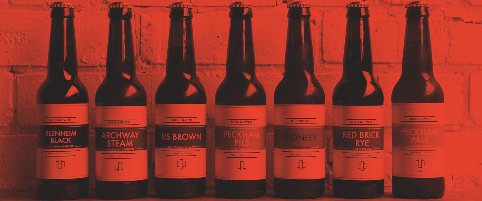 Various bottles of Brick Brewery's Beer