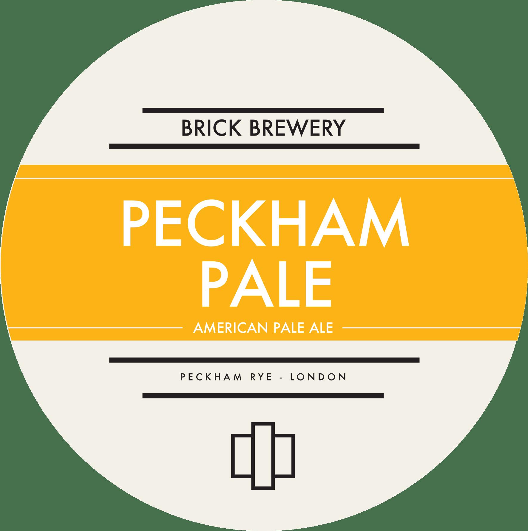 Brick Brewery's Peckham Pale Beer Logo