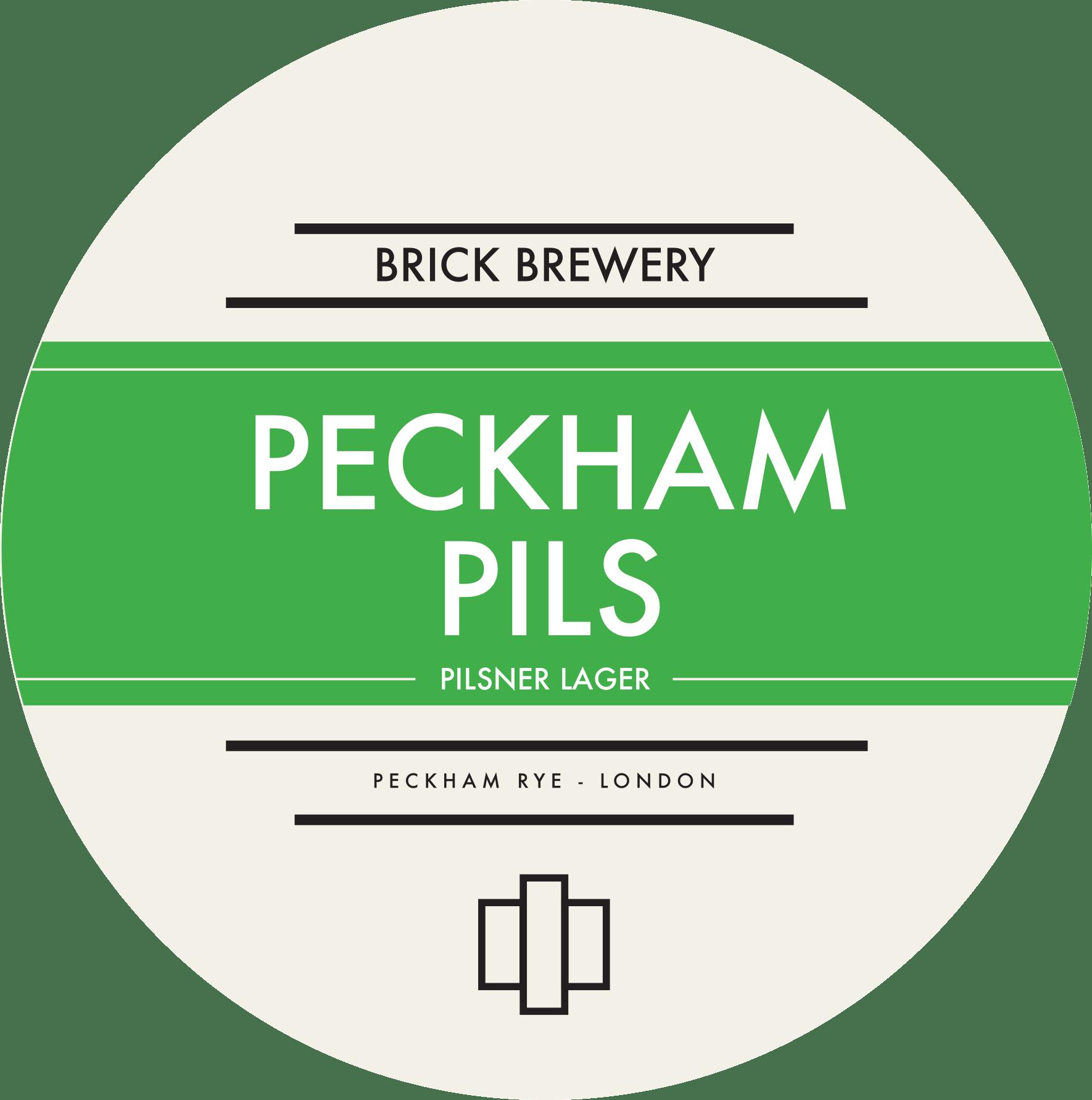 Brick Brewery's Peckham Pils Beer Logo