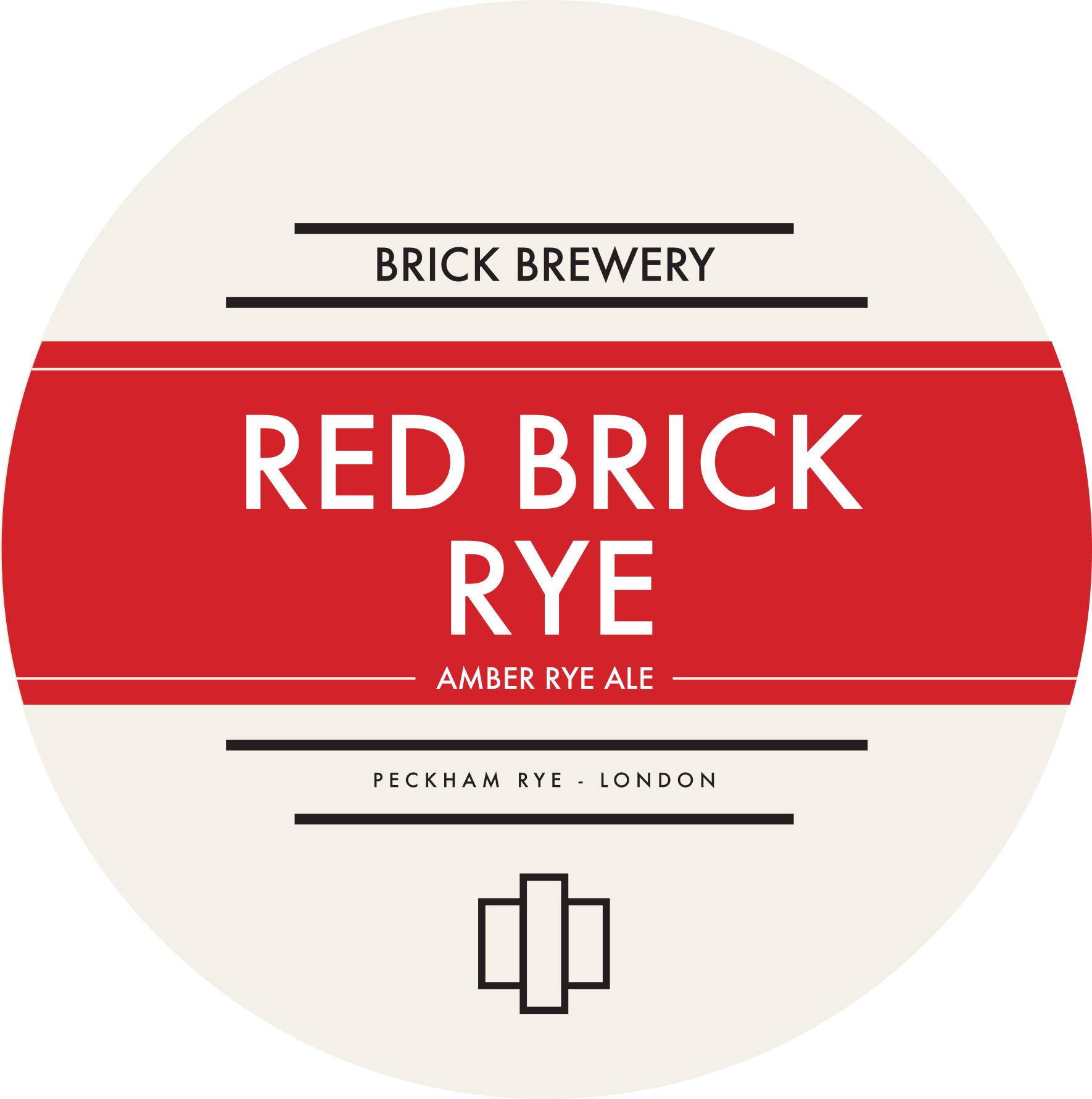 Brick Brewery's Red Brick Rye Beer Logo