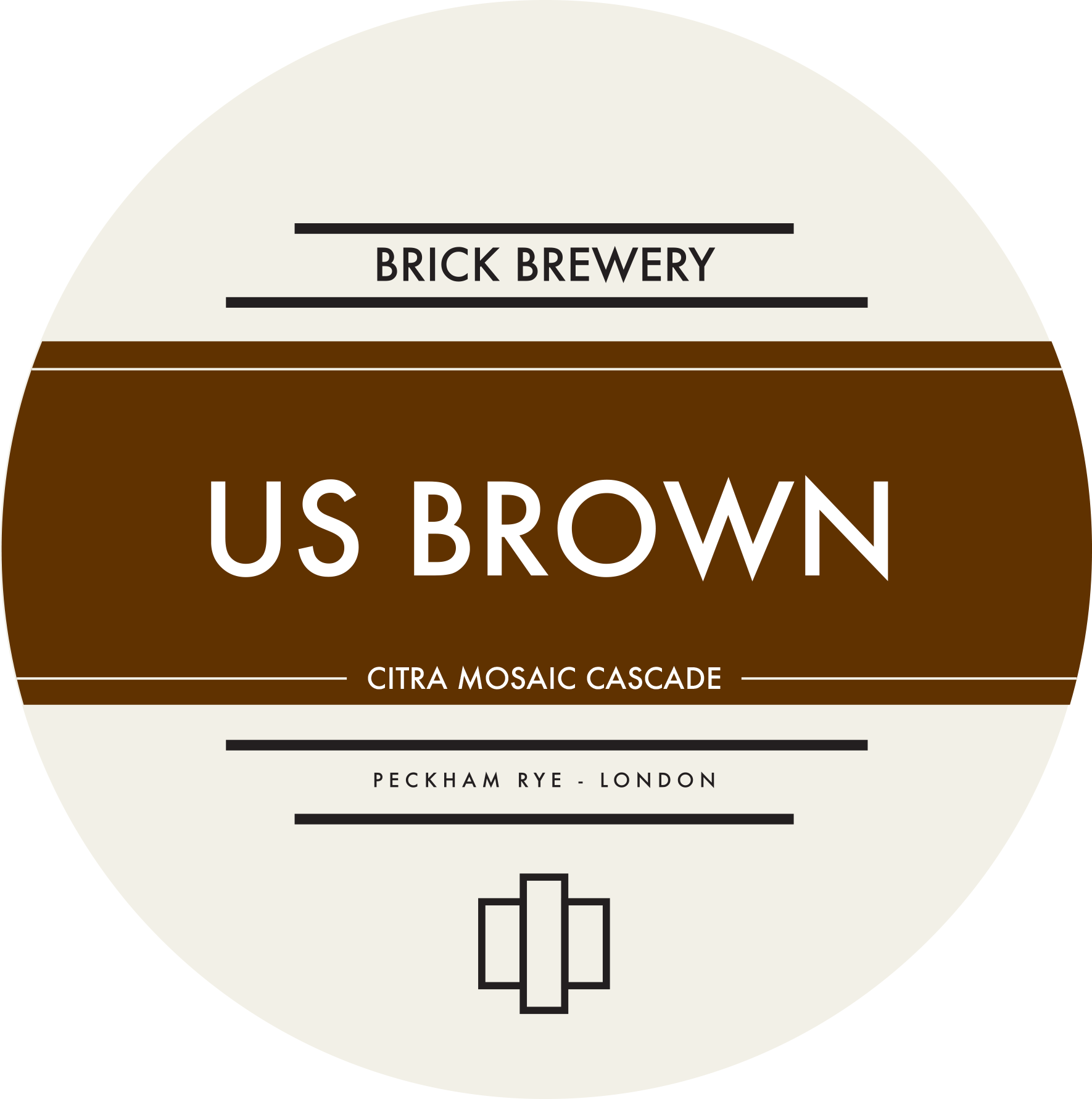 Brick Brewery's US Brown Beer Logo