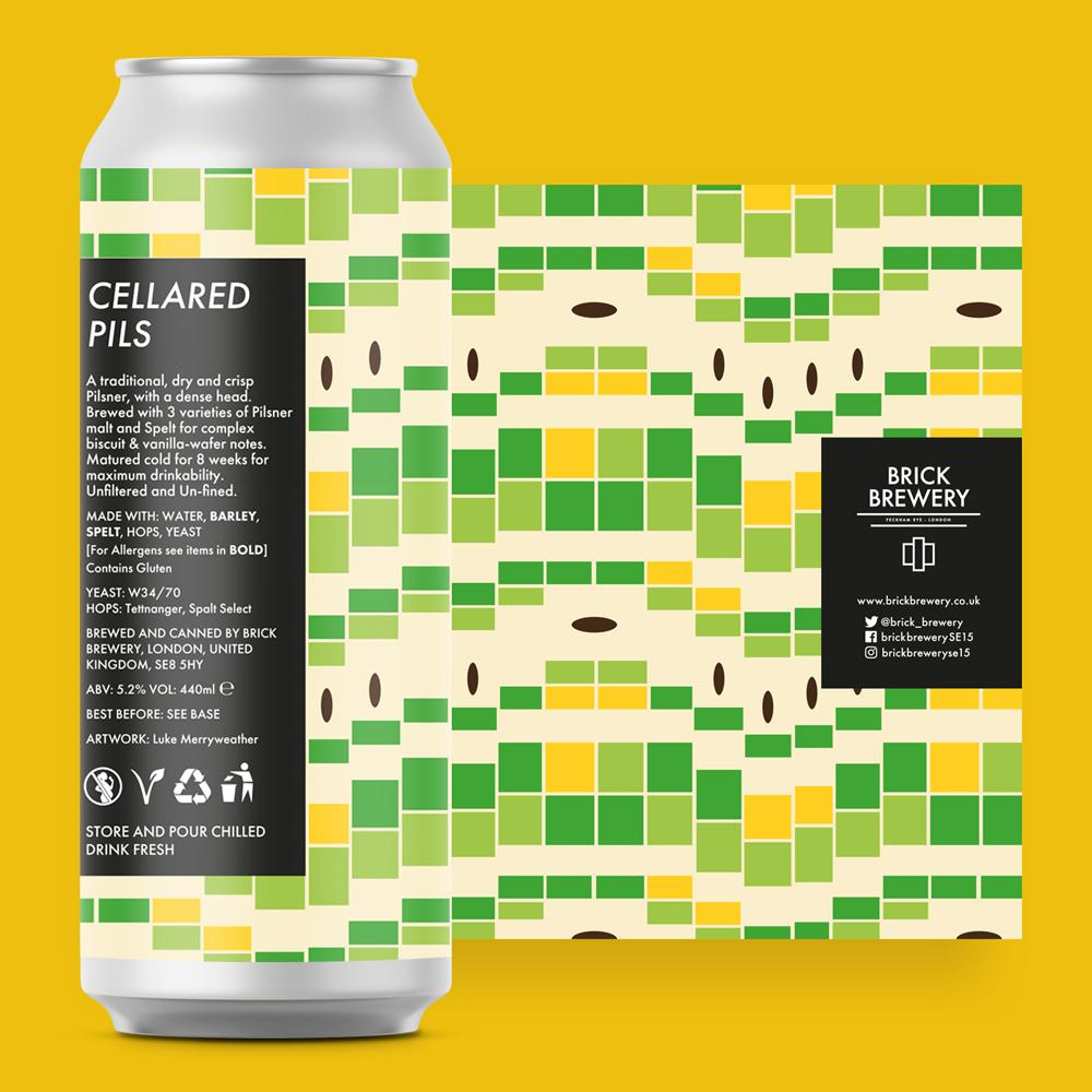 Cellared Pils 440ml Can from Brick Brewery's Specials Range