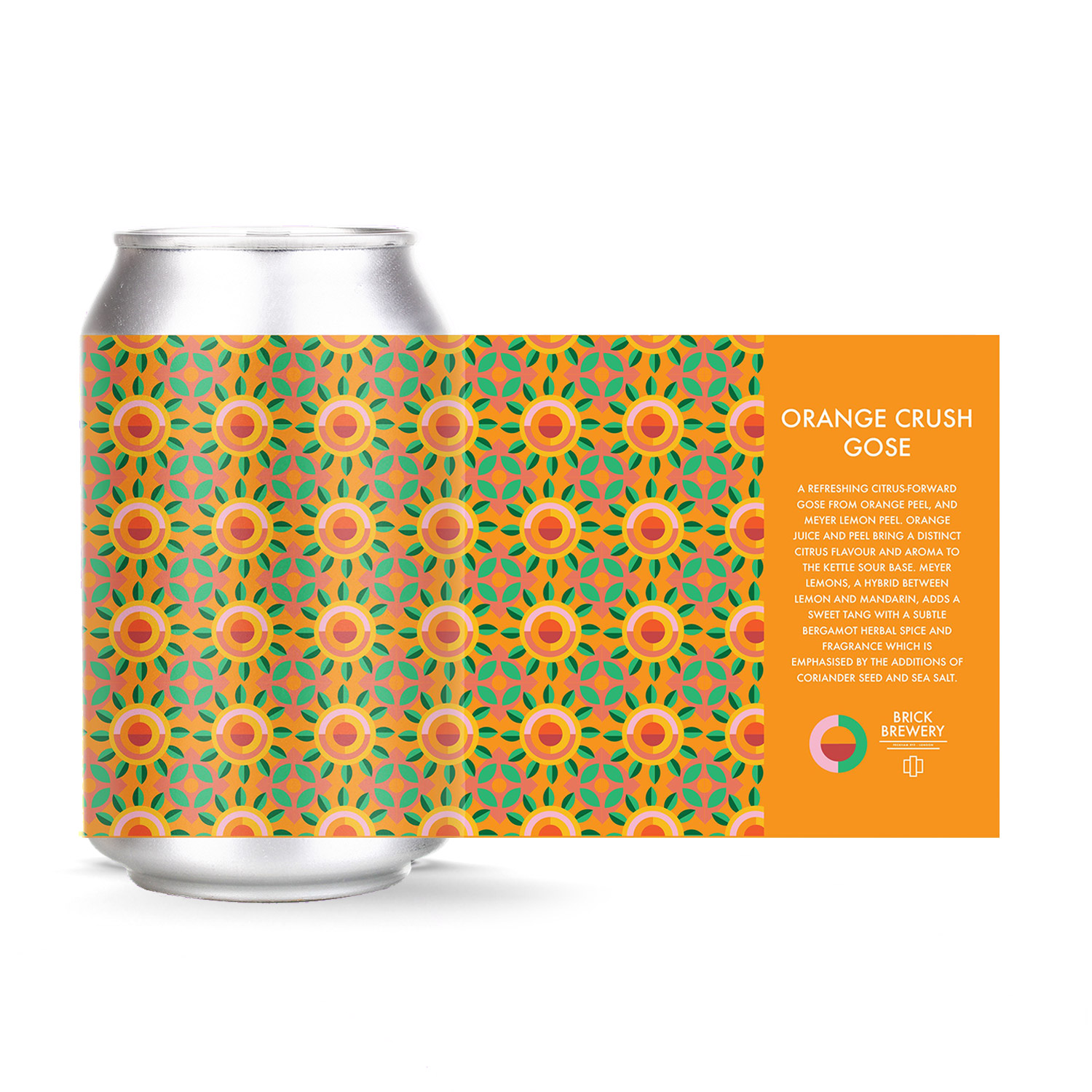 Orange Crush Gose 330ml Can from Brick Brewery's Sour Series White
