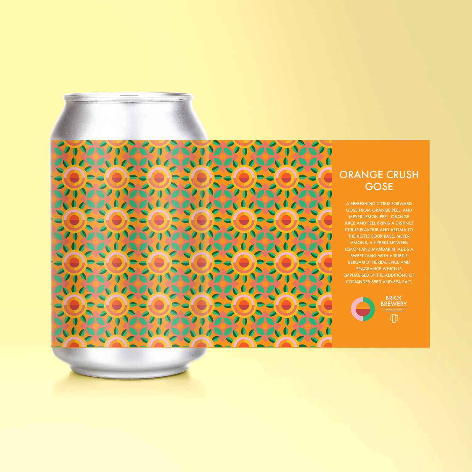 Orange Crush Gose 330ml Can from Brick Brewery's Sour Series