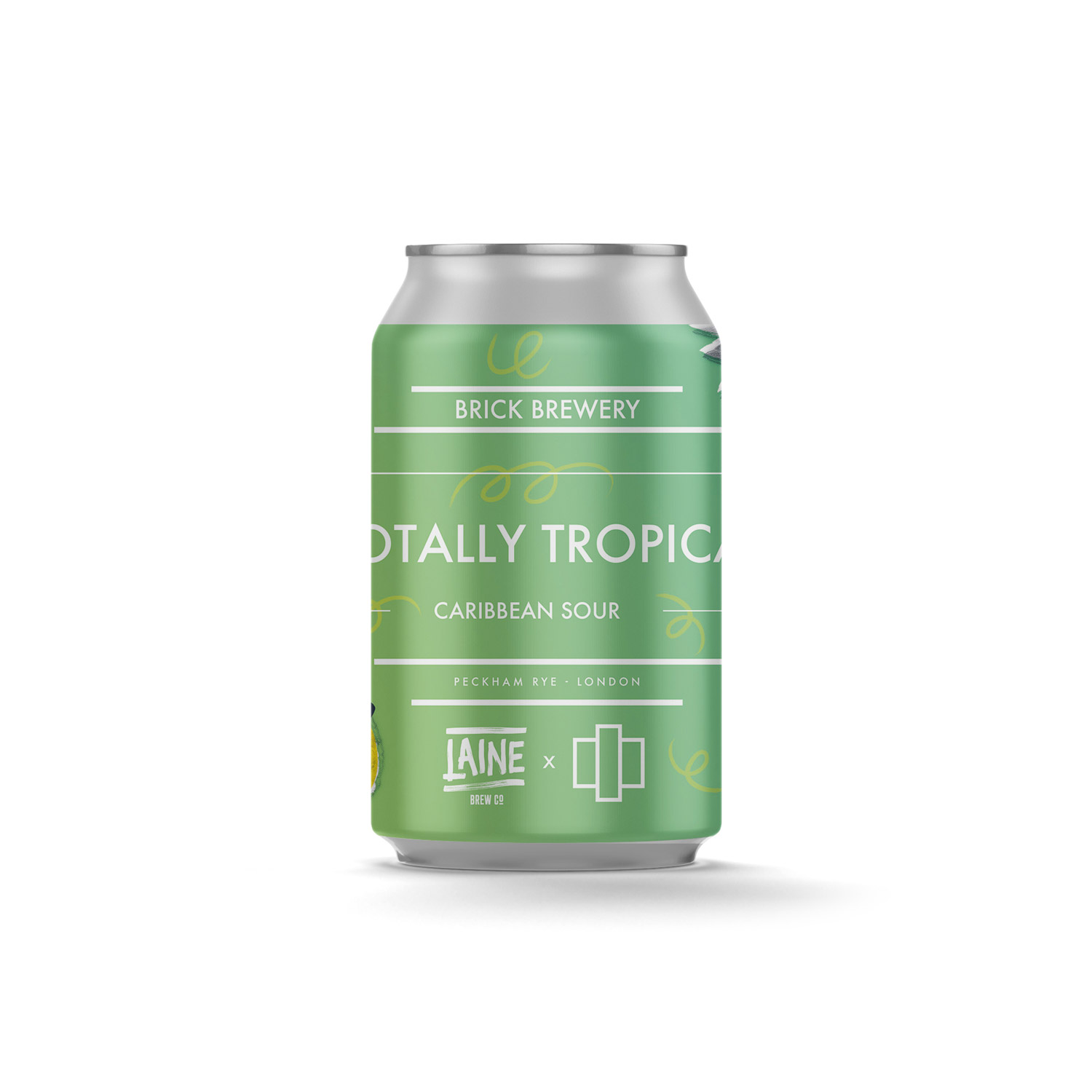 Totally Tropical 330ml Can from Brick Brewery's Collaborations Range White