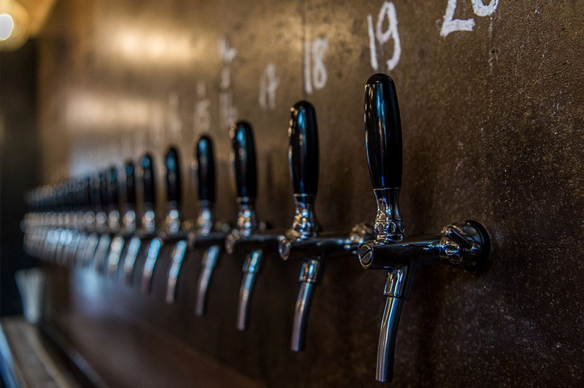 Beer Taps at the Brick Brewery Tap Room